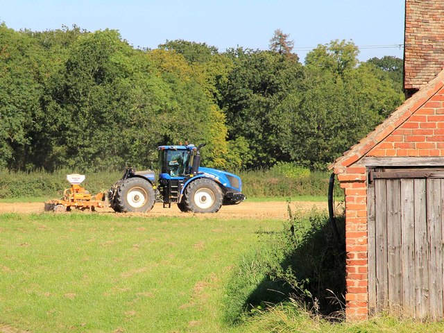 Big blue tractor