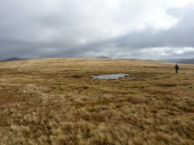 A small pool on the ridge