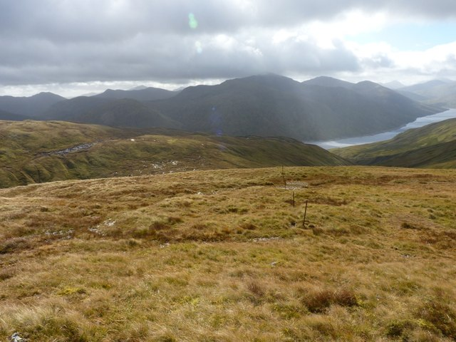 Down the ridge, with Loch Lyon beyond