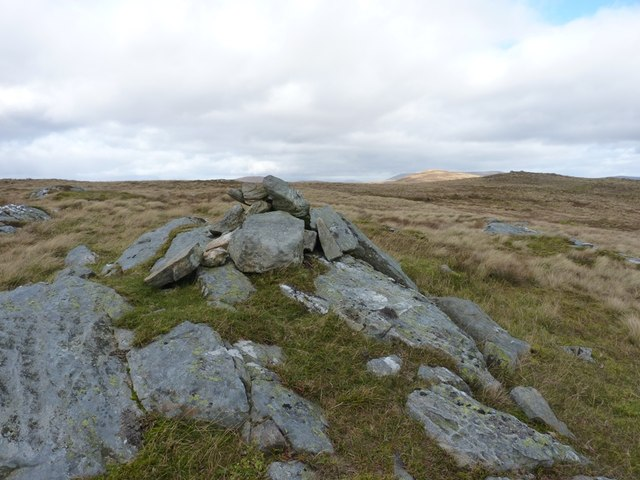 A lower cairn than the one at the summit