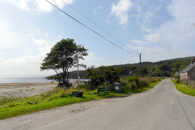 Bus stop, Skipness