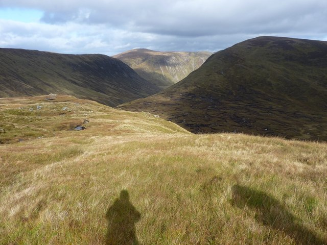 Down the ridge of Creag a' Chaorainn