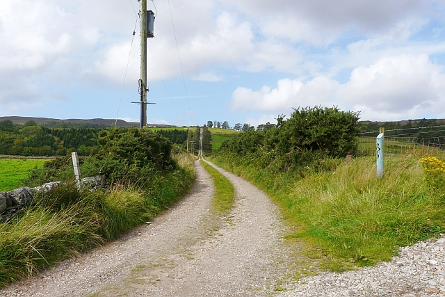 Kintyre Way, heading from Skipness to Coalfin