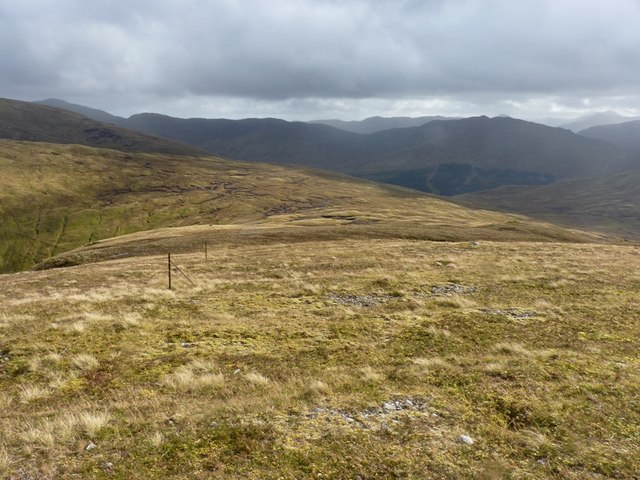 Downhill to the Bealach a' Mhaim