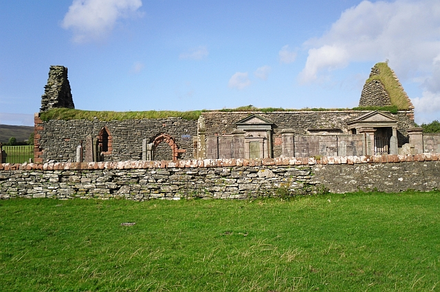 The ruined Kilbrannan Chapel