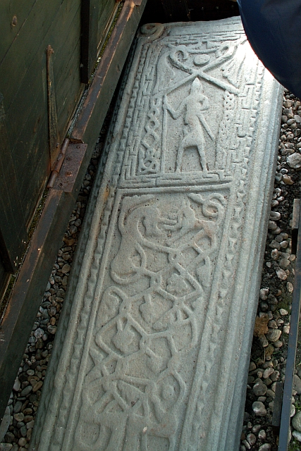 Late medieval carved grave slab