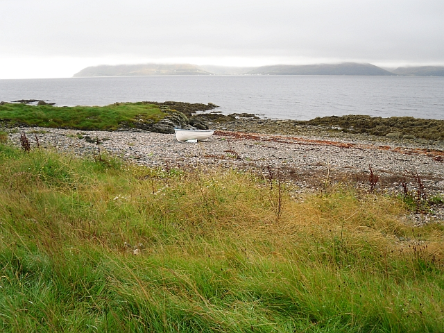 Beach beside Claonaig to Skipness road