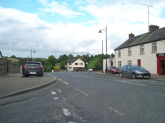 The R183 from the junction at the north-end of the village of Newbliss