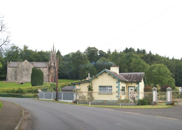Riverside Cottage and Newbliss CoI Parish Church