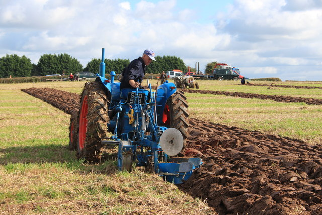Competitor at the 69th Trumpet Agricultural Society ploughing match