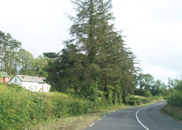 Bend in the R189 at Dernamoyle