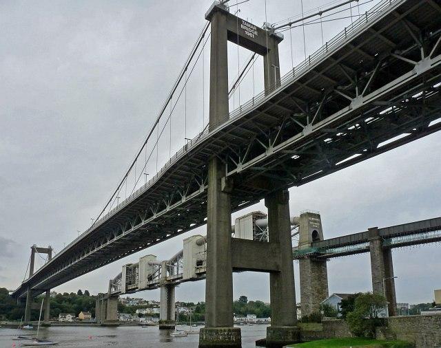 Sx4358 the bridges across the tamar as seen from saltash