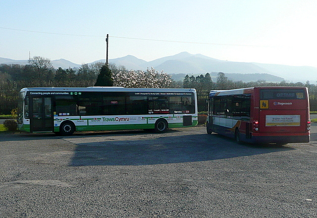 Bus terminus at Bishop's Meadow