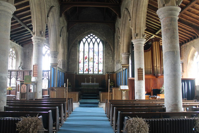 Interior, St john the Baptist church, Great Hale