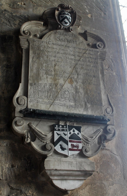 Memorial to Robert Cawdron(1652) Great Hale church