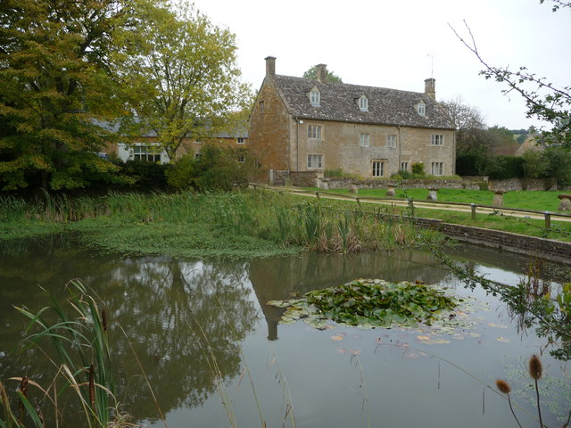 The village pond in Wyck Rissington