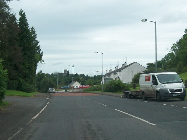 The A34 on the eastern outskirts of Newtownbutler