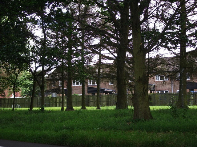 Housing at Bramcote Barracks seen from Bazzard Road