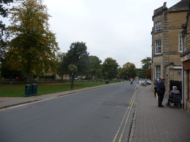 Part of the High Street in Bourton-on-the-Water