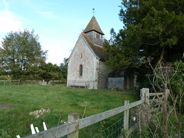 West face of St Mary's Church at North Marden