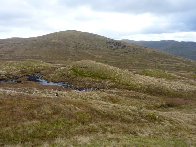 Moorland and peat bogs above the Allt Camaslaidh
