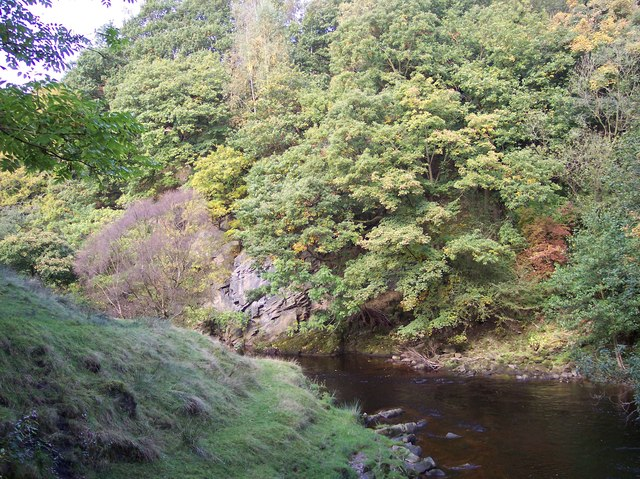 The River Etherow from Warrastfold Bridge