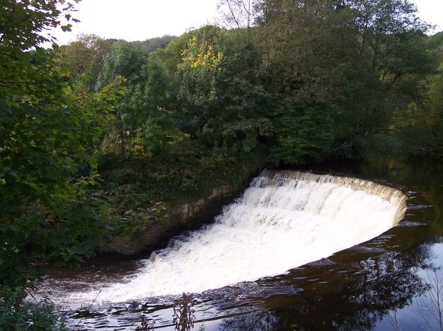 The weir on the River Etherow