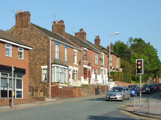 Terraced housing in Kidsgrove, Staffordshire