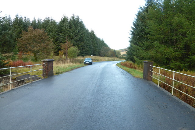 B709 from the bridge over Nether Dalgliesh Burn