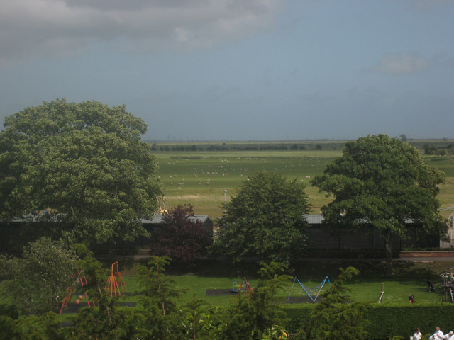 View from lookout at East Cliff, Rye