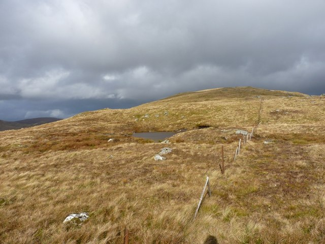 Tiny lochan on the southwest side of Meallan Odhar