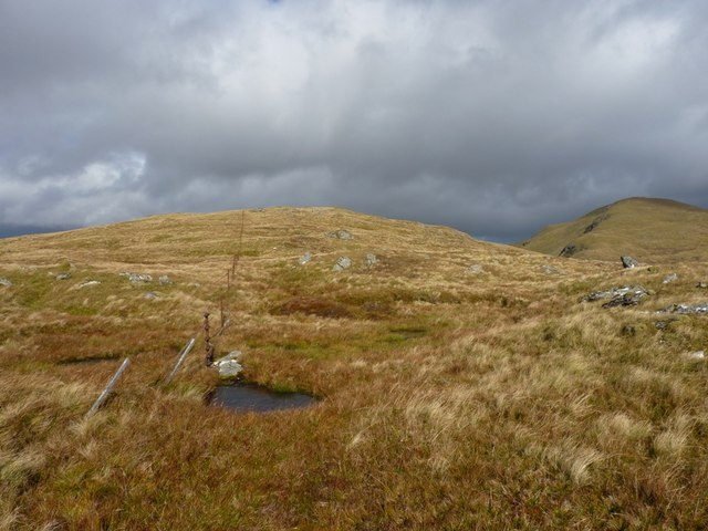 The last part of the ridge onto Meallan Odhar