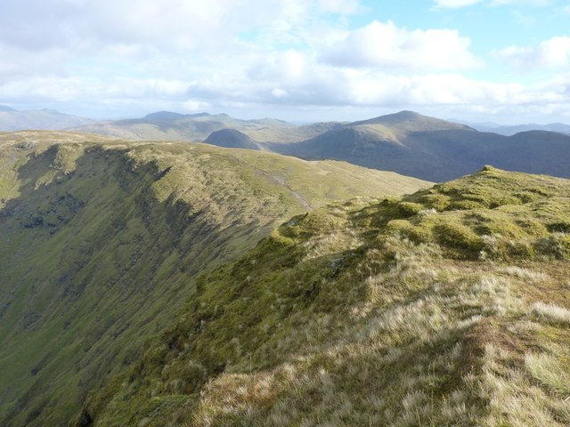 The steep north-facing slopes of Coire an Lochain
