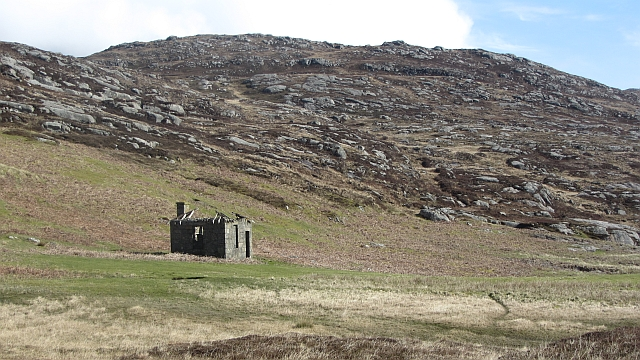 Hut on the south coast of South Uist