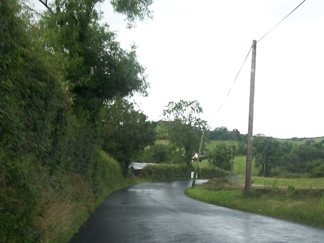 Bend on R192 between Cootehill and Shercock