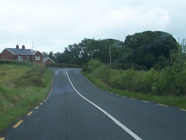 New house at the junction of the R181 and a minor access road at Corhelshinagh