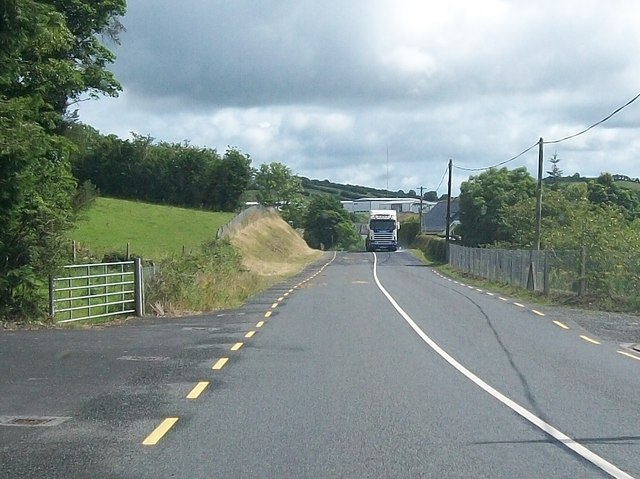 The R181 west of the Lough Egish Food Park