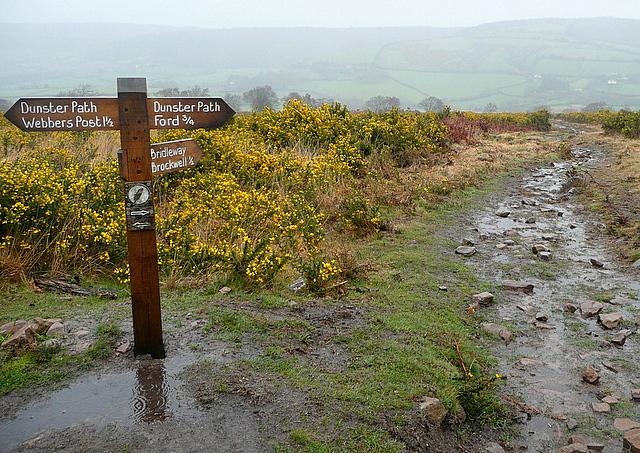 Dunster Path junction