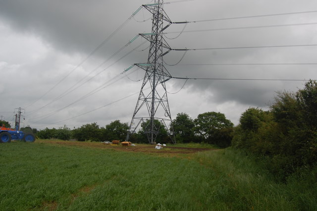 Power line near the Bridgewater Canal