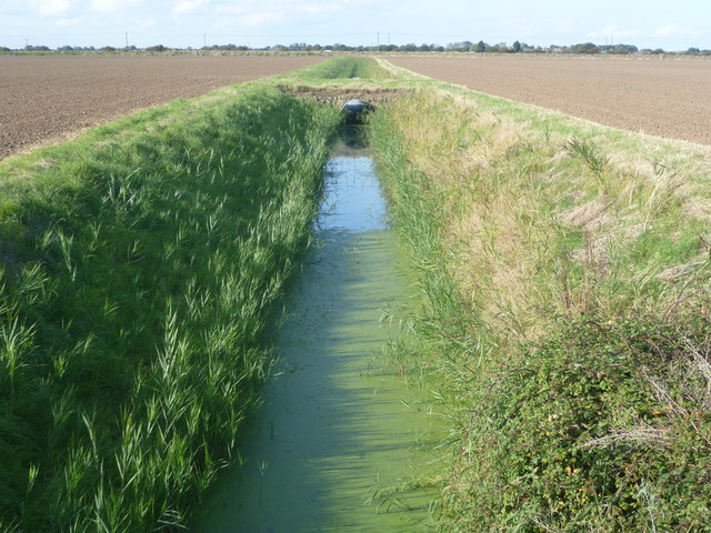 Drainage dyke and old bridge