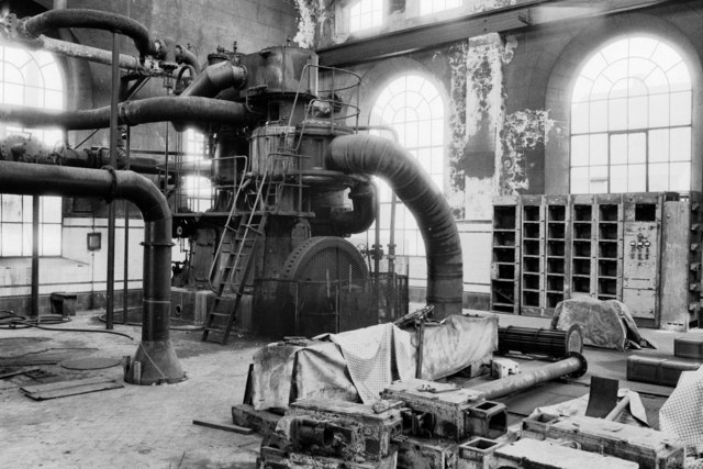 Walton Colliery - steam powered air compressor