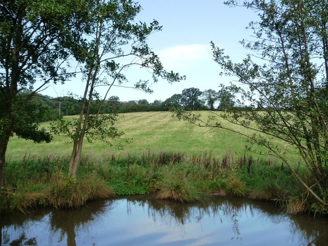 Worcestershire farmland, west of the canal