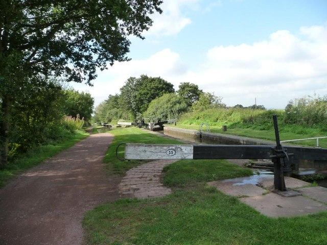 Lock 55, Worcester & Birmingham Canal