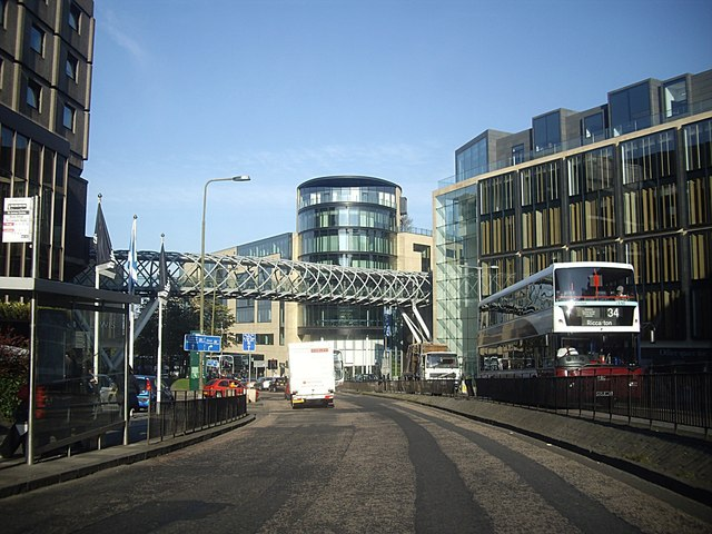 Pedestrian Bridge over Leith Street