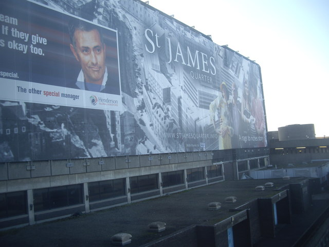 A 'St James Quarter' mural