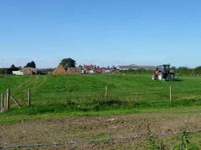 Tractor at work, Little Intall Fields