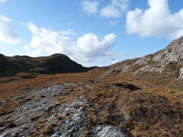 A high col through the Eabhal ridge