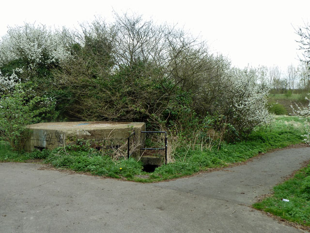 Almost buried pillbox, Beam Valley
