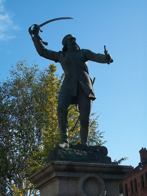 Sir John Nicholson on the warpath in Market Square