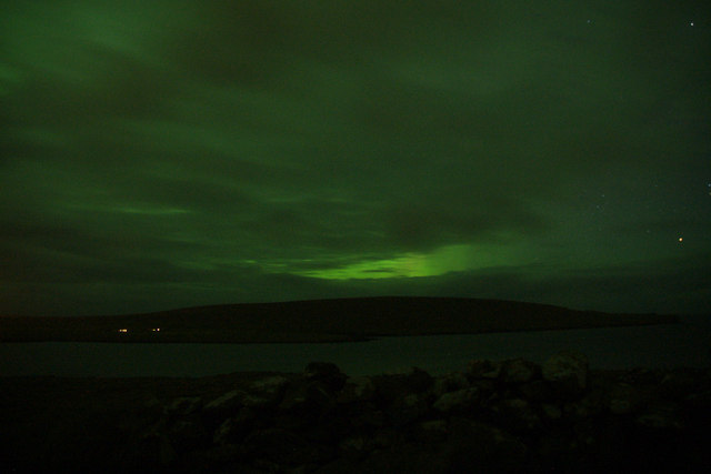 Aurora borealis over Clibberswick